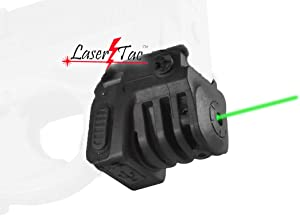 LaserTac TM Rechargeable Laser Sight for Subcompact Pistols & Compact Handguns with Rails, Compatible with Springfield XD XD-S XDM S&W M&P Beretta PX-4 Taurus Millenium Walther PPQ PPS PPX PK380 SR9C