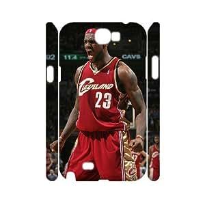 YananC(TM) YnaC242687 Custom 3D Cover Case for Samsung Galaxy Note 2 N7100 w/ LeBron James