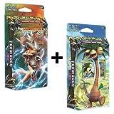 Pokemon Forbidden Light Sun & Moon Theme Cards Decks Exeggutor & Lycanroc