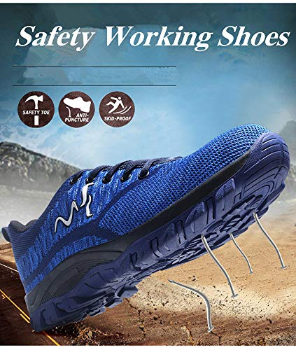 Men Anti-elactric Suede Steel Toe Cap Work Safety Shoes Breathable Working Boots Puncture Proof Protective Footwear by AiKim (Image #4)