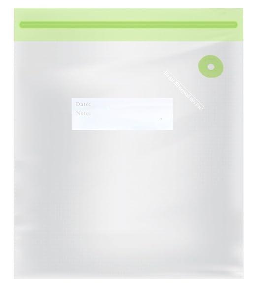 TM Electron TMVAC274 Kit de 10 Bolsas Zip para Envasar Al Vacío Reutilizables Tamaño L