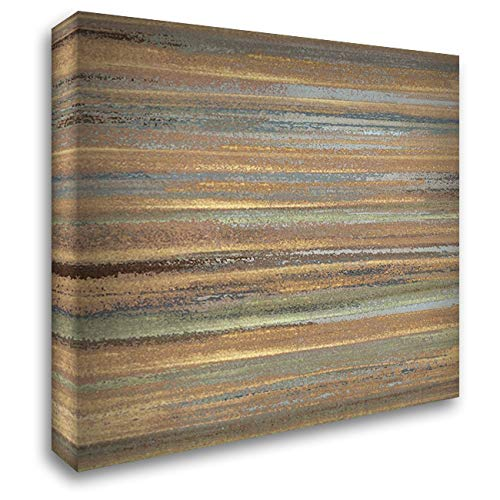 Ochre and Grey Abstract Il 20x20 Gallery Wrapped Stretched Canvas Art by -