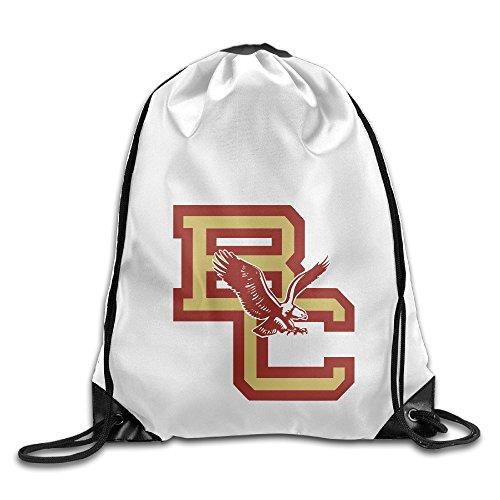 Bekey Boston College Eagles Gym Drawstring Backpack Bags For Men & Women For Home Travel Storage Use Gym Traveling Shopping Sport Yoga - Santana San Jose Rose