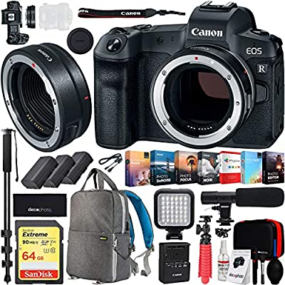 Canon EOS R Full Frame Cámara Digital sin Espejo (Solo Cuerpo ...