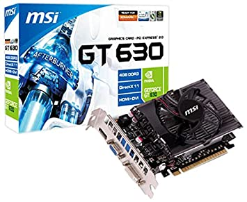Amazon.com: MSI GeForce GT 630 4GB GDDR3 VGA/DVI/HDMI PCI ...