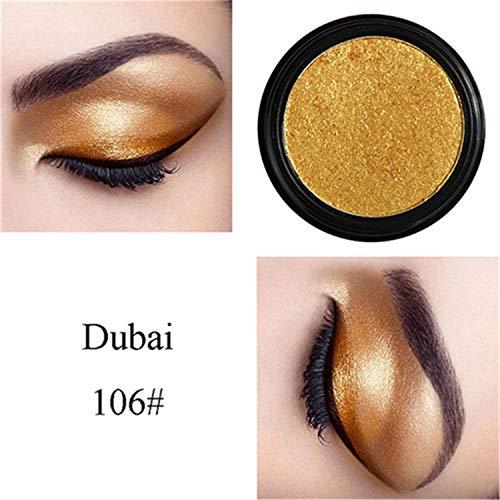 FANRENYOU Eye Shadow Soft Glitter Shimmering Colors Eyeshadow Metallic Eye Cosmetic Eyeshadow ()
