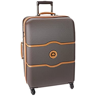 Delsey Luggage Chatelet 24 Inch Spinner Trolley, Brown, One Size
