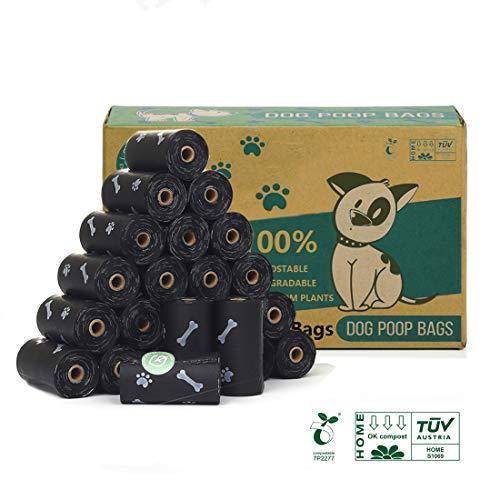 🥇 Green Maker 100% Compostajes & Biodegradables Caca Perro 360 Bolsas Excrementos Perros 30% más Grueso Que Otros Hechos de Almidón de Maíz con Europea EN13432 y Home Compost Certificación