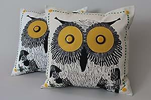 Amazon.com: Almofadas Promotion Cute Candy Owls Cotton Vintage Pillow