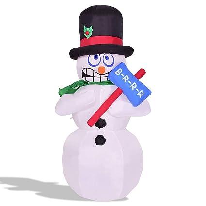Amazon.com: MBN - muñeco de nieve con luz hinchable para ...