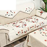 Embroidery fabric sofa cushions sofa back towel rural non slip cushion A 90x160cm(35x63inch)