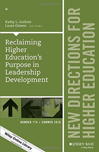 Jb He Single (Reclaiming Higher Education's Purpose in Leadership Development: New Directions for Higher Education, Number 174 (J-B HE Single Issue Higher Education))