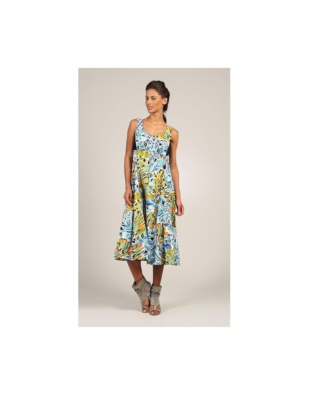 Lange trägerlos Baumwolle Sommerkleid breit rund Hals geh RO7007A