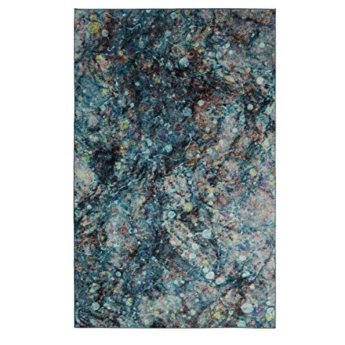 Mohawk Home Z0143 A416 060096 EC Prismatic Layered Marble Multicolored Abstract Precision Printed Area Rug, 5'x8', ()