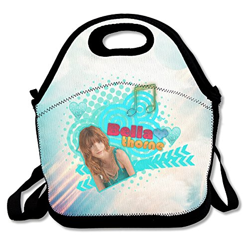 Bakeiy Bella Thorne Poster Lunch Tote Bag Lunch Box Neoprene Tote For Kids And Adults For Travel And Picnic (Bella Thorne Halloween)