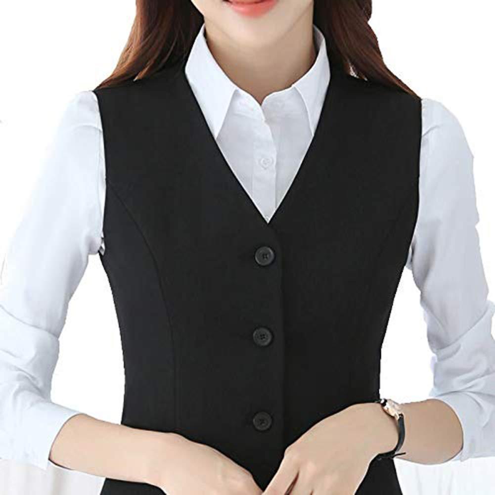 Keaac Mens Business Button Down Vest Suit Dress Waistcoat Slim Vest