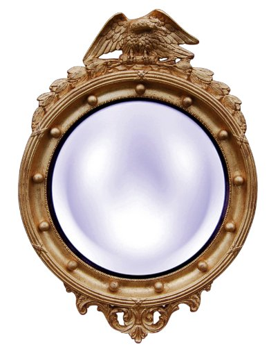 (Hickory Manor House 6317GL Regency Eagle Convex Mirror/Gold Leaf)