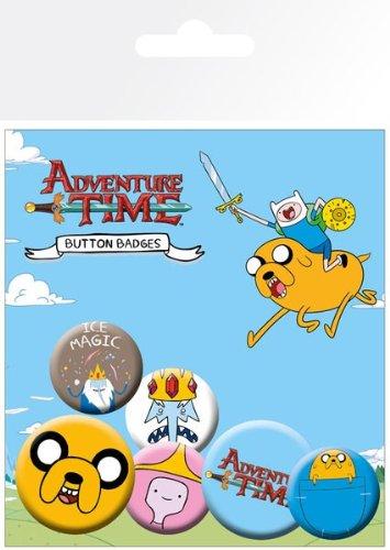 Adventure Time Princess Bubblegum Child Costume (Adventure Time Pin Button Badge Pack - Jake)