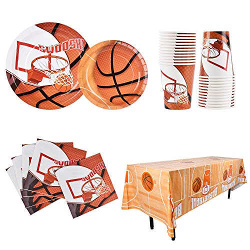 Basketball Party Decorations SERVE 25 Disposable