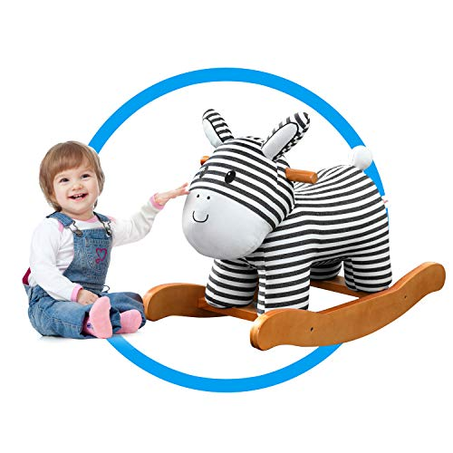 labebe Child Rocking Horse Toy, Stuffed Animal Rocker Toy, Infant Zebra Rocker Toy for 1-3 Years, Kid Rocking Horse/Zebra Rocking Horse/Toddler Rocking Horse/Rocker Ride Animal/Plush Rocking Horse