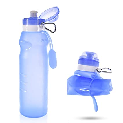 051a9bead863 Amazon.com : Feeko Sports Water Bottle, Silicone Travel Collapsible ...