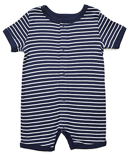 Leveret Baby Boys Girls Short Sleeve Snap up Romper 100% Cotton Variety of Colors (3-24 Months)