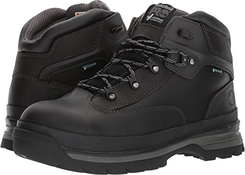 Timberland PRO Men's Euro Hiker Alloy Toe Waterproof Industrial and Construction Shoe, Black Full Grain Leather, 9.5 M US -