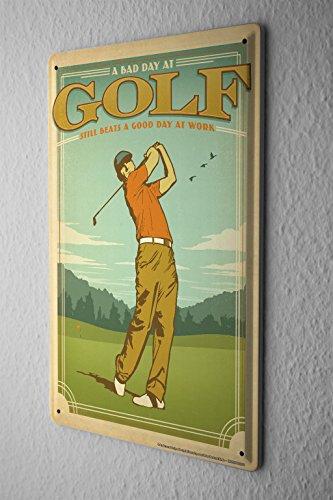 Nostalgic Tin Sign Wall Plate Saying Golf Golf Player Golf Course Metal Wall Plate (Golf Tin Sign)