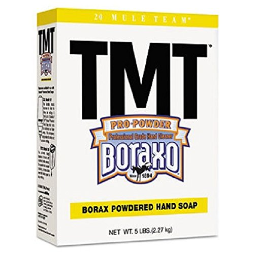 Boraxo 2561 TMT Powdered Hand Soap, Unscented Powder, 5 lb. Box, White (Pack of 10) from Boraxo