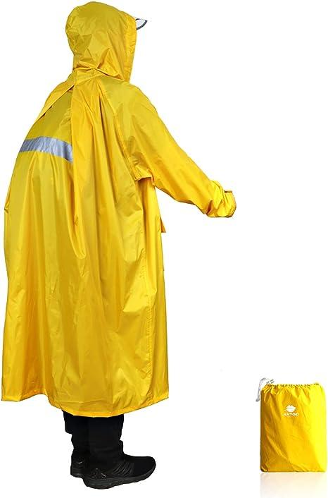 Radfahren Poncho Regenschutz für Rucksäcke Regenmantel Regengürtel Kapuze
