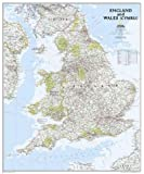 England and Wales Classic, tubed Wall Maps Countries & Regions (National Geographic Reference Map)