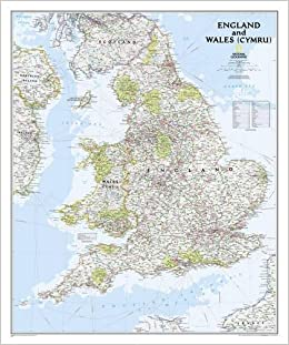 England and Wales Classic, tubed Wall Maps Countries & Regions