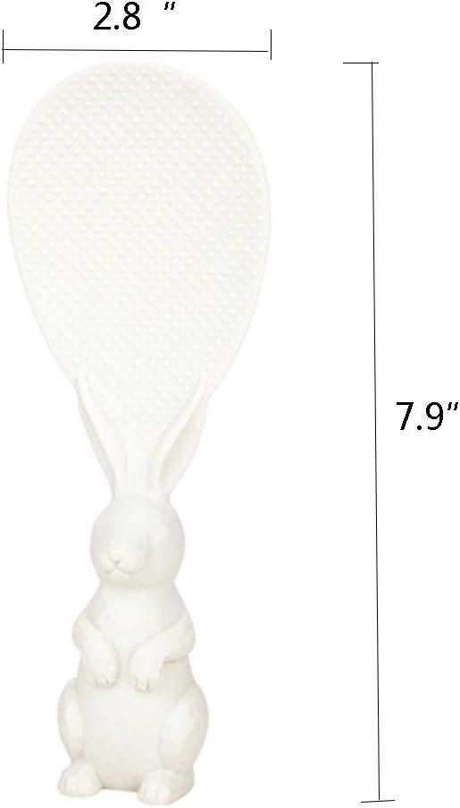 OLizee Creative Cooking Tool Kitchen Rabbit Rice Spoon Rice Shovel White