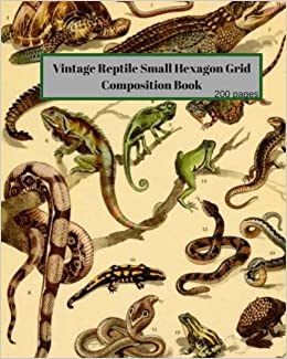 Vintage Reptile Small Hexagon Grid Composition Book: Believeology