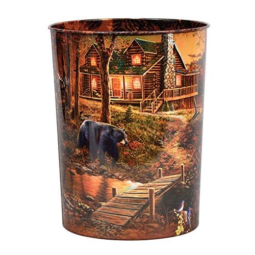 Black Forest Decor Cabin Scene Tin Waste ()
