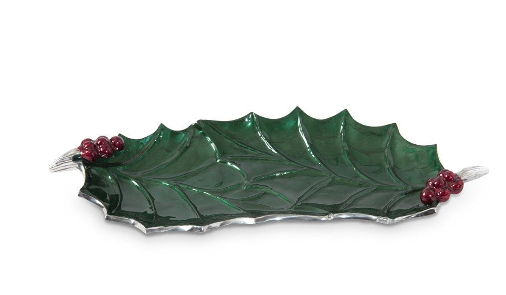 Julia Knight 8331055 Holly Sprig Large Platter, One Size, Emerald