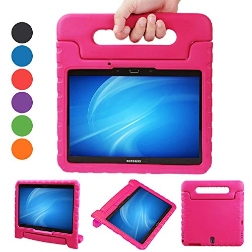 XKTTSUEERCRR Samsung Galaxy Tab S 10.5-inch Shockproof Lightweight Kids Adjustable Portable Handheld Drop Protection EVA Tablet Shell Cover Case For Samsung Galaxy Tab S 10.5(SM-T800/SM-T805) - Rose