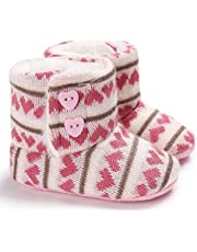 Baby Girl Boy Snow Boots, Winter Booties Anti-Slip Infant Toddler Newborn Crib Shoes