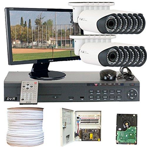 GW Security VD12CHH8 16 CH HD-SD DVR 12 x HD-SDI 1/3-Inch 1.3 Megapixel 720p CMOS Camera 2.8 to 12 mm Lens 42-IR LED, 110-Feet IR Distance