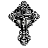CROSS CRUCIFIX CHRISTIAN BIKER COLORS EMBROIDERED IRON-ON DECORATIVE PATCH 12