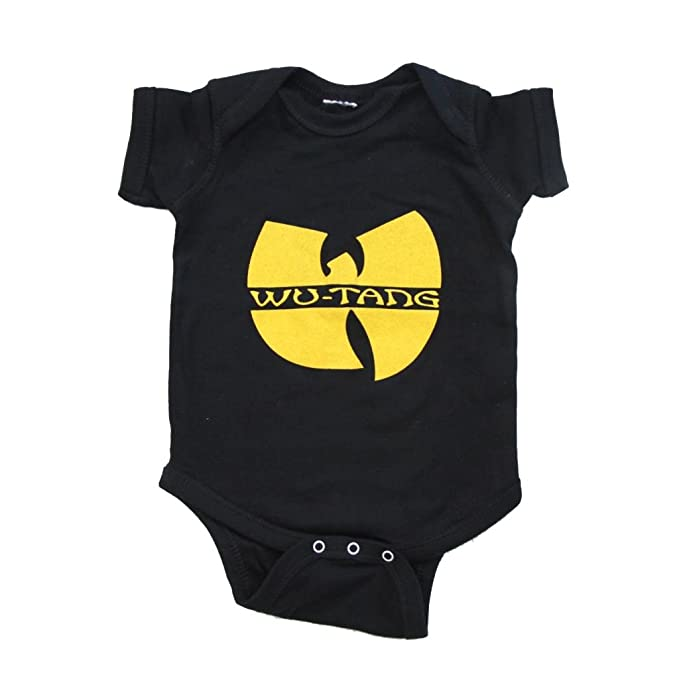 Amazon.com  Wu Tang Clan Logo Black Infant Baby Onesie Romper  Clothing 459726ece99
