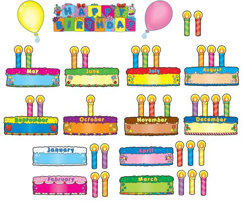 Carson Dellosa Birthday Cakes Bulletin Board Set (110038)