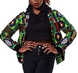 Yayu Women's Long Sleeve Print Dashiki Ethnic Style Africa Baseball Jackets 8 L
