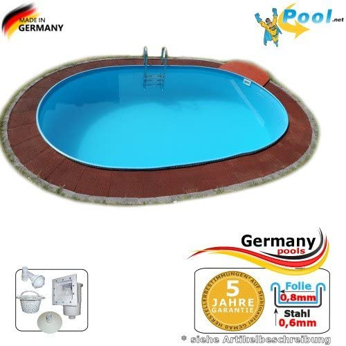 Piscina 4, 50 x 3, 00 x 1, 20 Acero Pared Pool ovalado 4, 5 x 3, 0 ...