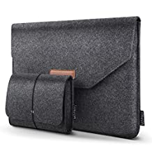 "HOMIEE 13-13.3 inch Laptop Sleeve Portable Protective Case for Apple New MacBook Pro, MacBook Pro Retina, MacBook Air, 12.9"" iPad Pro, Dell XPS, Lenovo/HP/Chormebook Ultra Slim Notebook, Dark Gray"