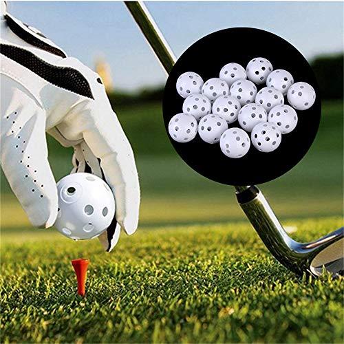 zhuangyulin6 10PCS Golf Practice Balls,41mm Golf Training Balls Plastic Airflow Hollow with Hole Golf Balls Outdoor Golf…