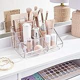 STORi Clear Plastic 6-Compartment Vanity Makeup