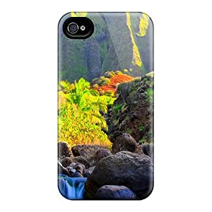 Sanp On Case Cover Protector For Iphone 4/4s (mountain Water)