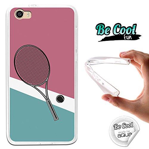 Becool® Fun- Flexible Gel Schutzhülle für Intex Aqua Shine 4G, TPU Hülle aus bestem Silikon gefertigt, die dank unserem exklusivem Design sich einwandfrei an Ihr Smartphone anpasst und optimalen Schutz gewährleistet. Tennisschläger