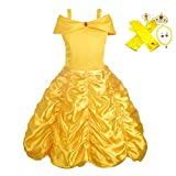 Lito Angels Girls' Princess Belle Dress Up Costumes Halloween Costume Fancy Dress with Accessories